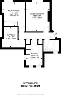 Large floorplan for Merton Road, Southfields, SW18