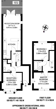 Large floorplan for Barnard Hill, Muswell Hill, N10
