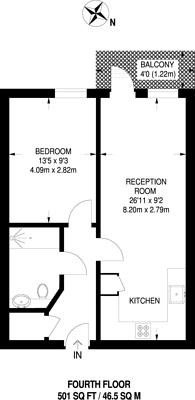 Large floorplan for Cranston Court, Shepherd's Bush, W12