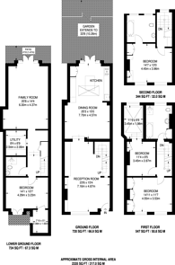 Large floorplan for Waterford Road, Moore Park Estate, SW6