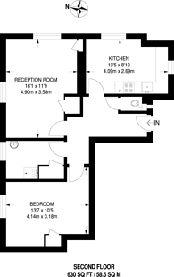 Large floorplan for Reardon Path, Wapping, E1W