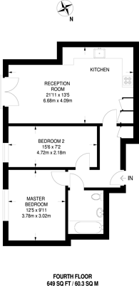 Large floorplan for Leonard Street, Shoreditch, EC2A