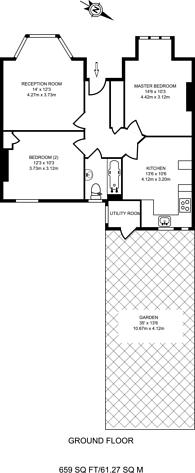 Large floorplan for Ellison Road, Streatham Common, SW16