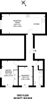 Large floorplan for Sterne Street, Shepherd's Bush, W12