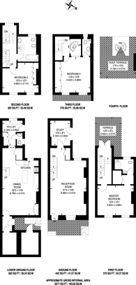 Large floorplan for Westmoreland Terrace, Pimlico, SW1V