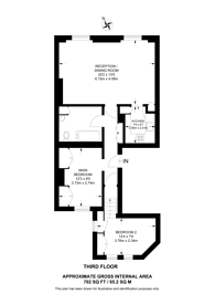 Large floorplan for Elvaston Place, South Kensington, SW7