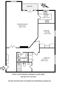 Large floorplan for Lansdowne Road, Wimbledon Village, SW20