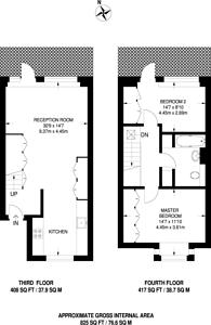 Large floorplan for Chesterton Square, South Kensington, W8