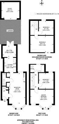 Large floorplan for Northcote Road, Walthamstow, E17