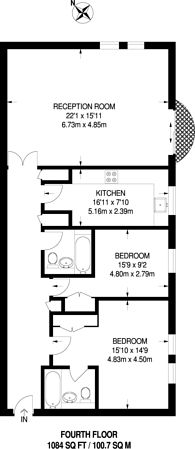 Large floorplan for Huntsmore House, Earls Court, W8