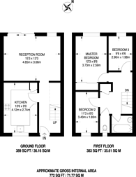 Large floorplan for Kinglake Court, St Johns, GU21