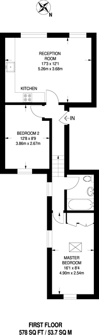 Large floorplan for Rectory Road, Stoke Newington, N16