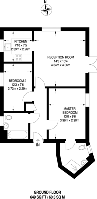 Large floorplan for Queensberry Place, Manor Park, E12