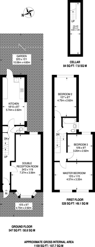 Large floorplan for Evesham Road, Stratford, E15