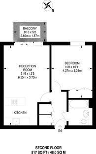 Large floorplan for Abbotts Wharf, Poplar, E14