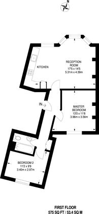 Large floorplan for Kenwyn Road, Clapham High Street, SW4