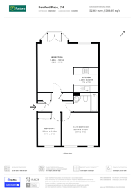 Large floorplan for Barnfield Place, Docklands, E14