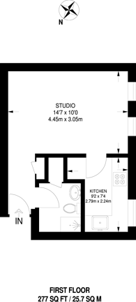 Large floorplan for Harper Road, Beckton, E6
