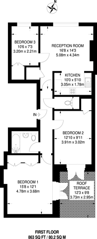 Large floorplan for Seven Sisters Road, Holloway, N7