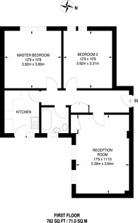 Large floorplan for Hatherley Grove, Notting Hill, W2