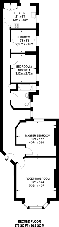 Large floorplan for Museum Chambers, Bloomsbury, WC1A