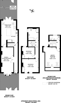 Large floorplan for Durham Road, Raynes Park, SW20