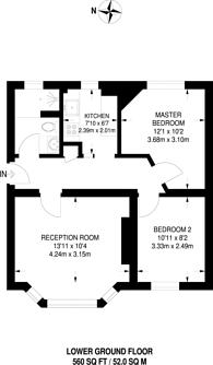 Large floorplan for Kingsley Flats, Elephant and Castle, SE1