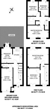 Large floorplan for Devonshire Road, Sutton, SM2