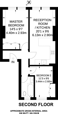 Large floorplan for Crouch End Hill, Crouch End, N8