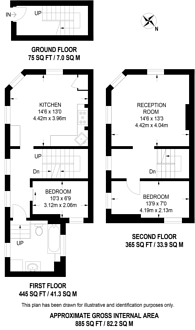 Large floorplan for Lalor Street, Fulham, SW6