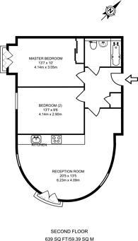 Large floorplan for St Lukes Avenue, Clapham High Street, SW4