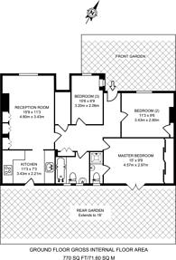 Large floorplan for Oakworth Road, North Kensington, W10