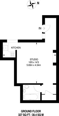 Large floorplan for Whitehorse Road, Thornton Heath, CR0