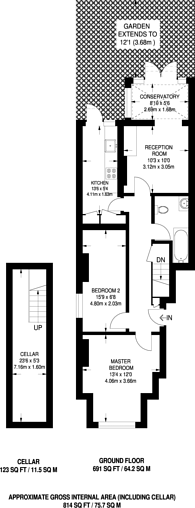 Large floorplan for Marjorie Grove, Battersea, SW11