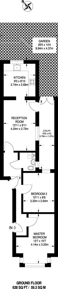 Large floorplan for Katherine Road, East Ham, E6