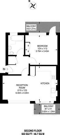 Large floorplan for Fortescue Avenue, London Fields, E8