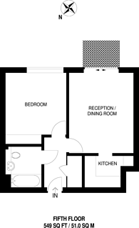 Large floorplan for Royal Gateway, Canning Town, E16