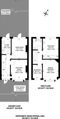 Large floorplan for Whitefoot Lane, Bromley, BR1