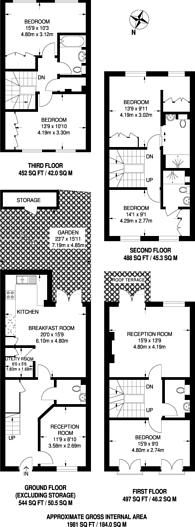 Large floorplan for Heathcote Gate, South Park, SW6