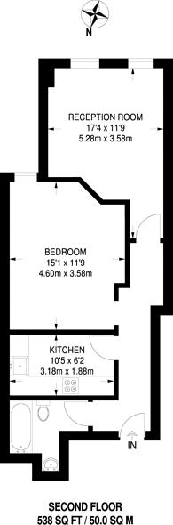 Large floorplan for Rosebank Gardens North, Bow, E3