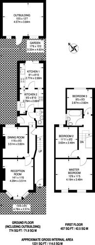Large floorplan for Hilda Road, Upton Park, E6