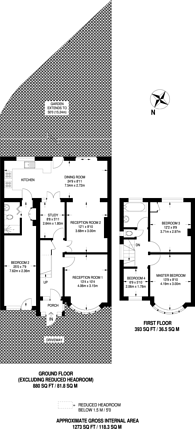 Large floorplan for Walton Drive, Harrow, HA1