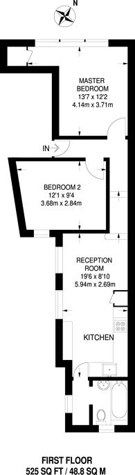 Large floorplan for Landor Road, Clapham North, SW9