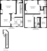 Large floorplan for Bedfordbury, Covent Garden, WC2N