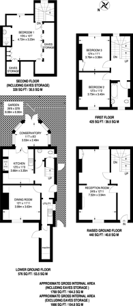 Large floorplan for Halliford Street, Islington, N1