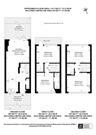 Large floorplan for Telford Terrace, Pimlico, SW1V