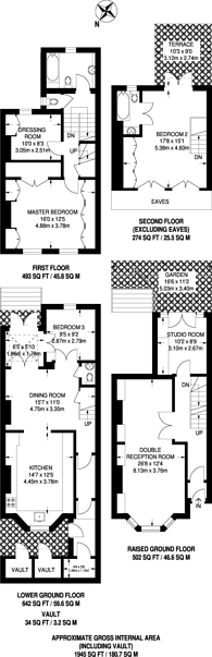 Large floorplan for Burnaby Street, Chelsea, SW10