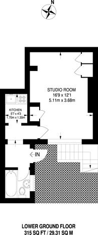 Large floorplan for Gloucester Terrace, Bayswater, W2