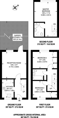 Large floorplan for Haygreen Close, Kingston, KT2