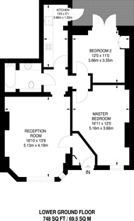 Large floorplan for Perham Road, Barons Court, W14
